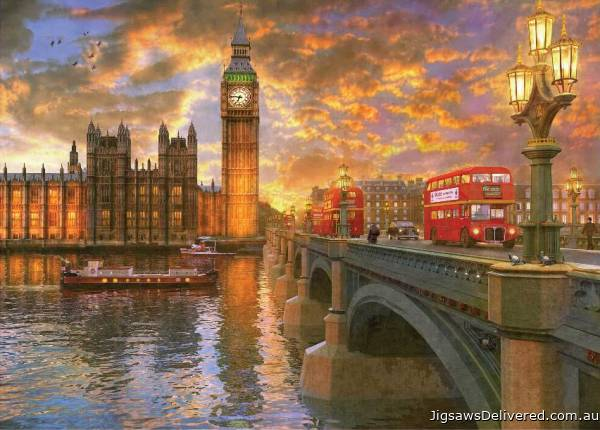 Westminster (Sunsets) (HOL097272), a 1000 piece jigsaw puzzle by Holdson.