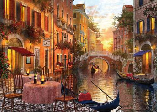 Venice (Sunsets) (HOL097265), a 1000 piece jigsaw puzzle by Holdson. Click to view larger image.