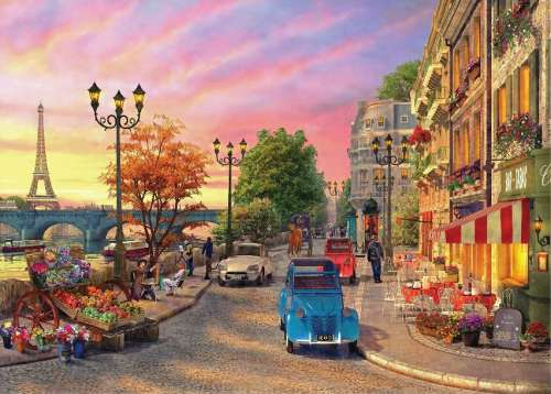 The Seine in Paris (Sunsets) (HOL097241), a 1000 piece jigsaw puzzle by Holdson. Click to view larger image.