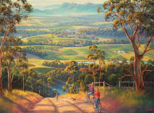 Vineyard Vista (BL01920), a 1000 piece jigsaw puzzle by Blue Opal. Click to view larger image.