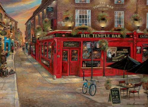 The Temple Bar (COB51778), a 1000 piece jigsaw puzzle by Cobble Hill. Click to view larger image.