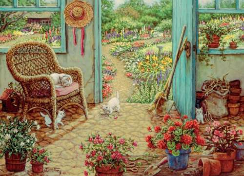 The Potting Shed (COB51715), a 1000 piece jigsaw puzzle by Cobble Hill. Click to view larger image.
