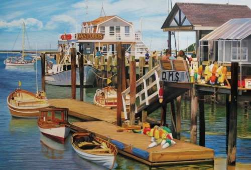 Summer Pier (COB50704), a 2000 piece jigsaw puzzle by Cobble Hill. Click to view larger image.