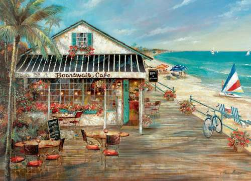 Boardwalk Cafe (COB51779), a 1000 piece jigsaw puzzle by Cobble Hill. Click to view larger image.