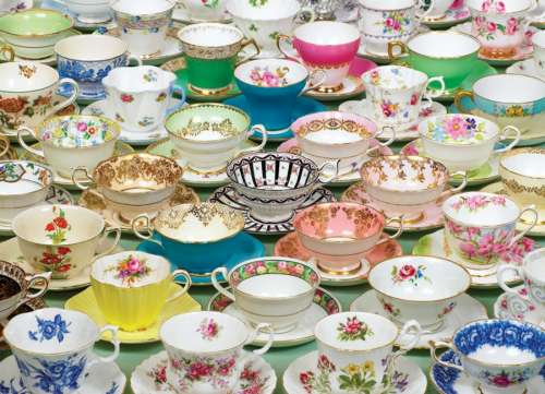Teacups (COB51651), a 1000 piece jigsaw puzzle by Cobble Hill. Click to view larger image.