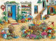 Fancy Flower Shop (Large Pieces) (COB54344), a 275 piece Cobble Hill jigsaw puzzle.