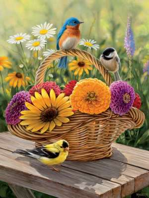 Summer Bouquet (COB88012), a 275 piece jigsaw puzzle by Cobble Hill. Click to view larger image.