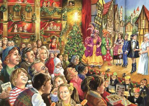 Christmas Pantomine (JUM11082), a 1000 piece jigsaw puzzle by Jumbo. Click to view larger image.
