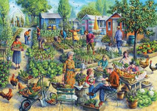 Green Street Gardens (JUM11081), a 1000 piece jigsaw puzzle by Jumbo. Click to view larger image.