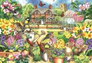 Spring Garden (JUM11106), a 1000 piece jigsaw puzzle by JumboArtist Claire Comerford. Click to view this jigsaw puzzle.