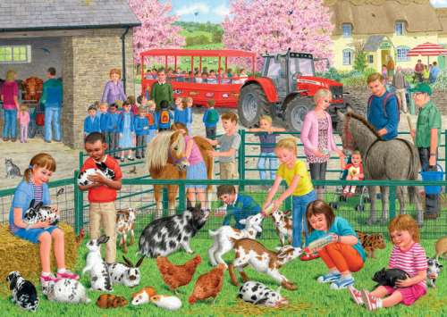 Day at the Farm (JUM11089), a 1000 piece jigsaw puzzle by Jumbo. Click to view larger image.