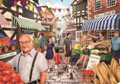 Market Day (JUM11111), a 1000 piece jigsaw puzzle by Jumbo. Click to view larger image.
