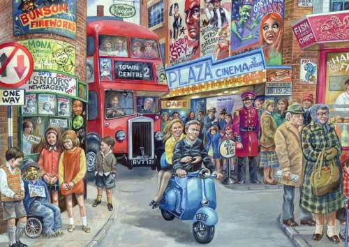 Life in the City (JUM11090), a 1000 piece jigsaw puzzle by Jumbo. Click to view larger image.