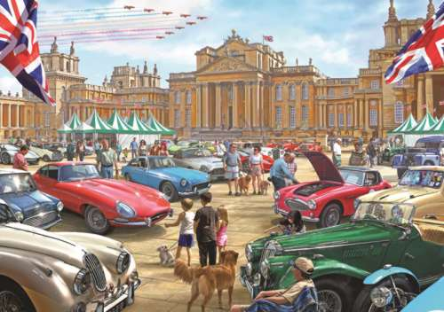 Classic Car Show (JUM11112), a 1000 piece jigsaw puzzle by Jumbo. Click to view larger image.