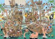 Pirates (JUM19204), a 1000 piece Jumbo jigsaw puzzle.
