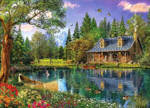 Crystal Lake (HOL097432), a 1000 piece jigsaw puzzle by Holdson. Click to view larger image.