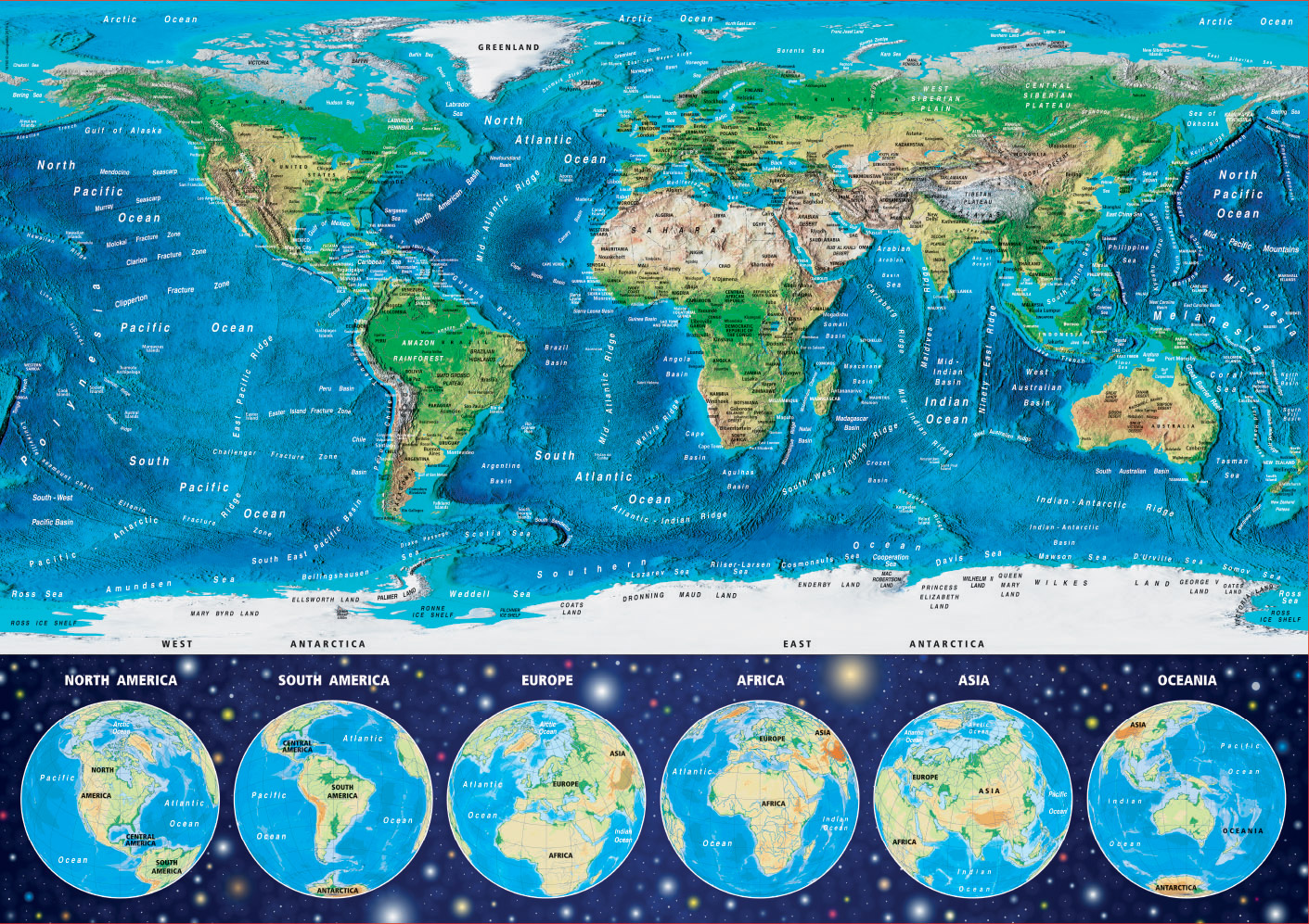 World Map Glow In The Dark Jigsaw By Educa Edu16760