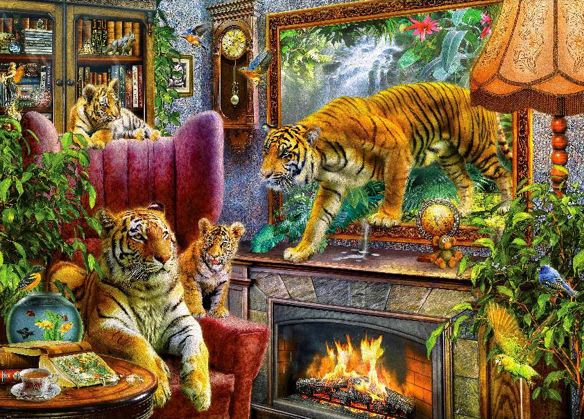 Tigers Are Coming Jigsaw By Art To Life 098415 1000