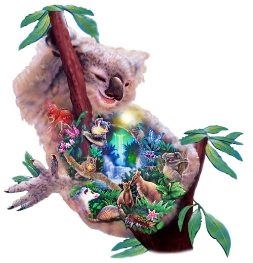 Out On A Limb Koala Shaped Puzzle Jigsaw By Sunsout