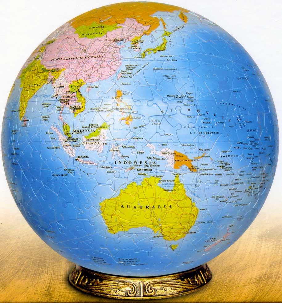 World Globe Puzzleball Jigsaw By Blue Opal Bl52209 540