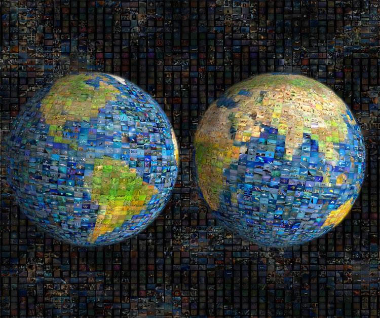 Planet Earth Photomosaic Jigsaw By Blue Opal Bl01190