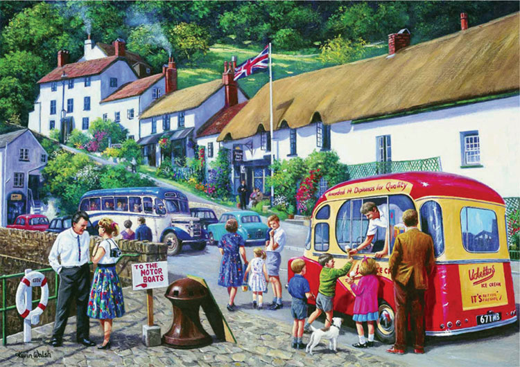 Happy Days At Lynmouth Nostalgia Jigsaw By Kevin Walsh