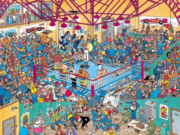 Boxing Match Jigsaw By Jan Van Haasteren Jum01420 500