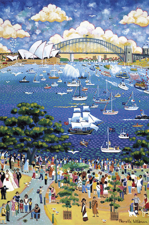 Friendship On Australia Day Sydney Jigsaw By Narelle