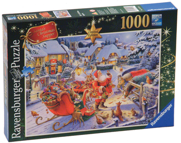 Santa S Christmas Supper Limited Edition Jigsaw By