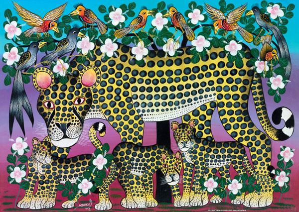 Wildcat Family Tinga Tinga Jigsaw By Tinga Tinga