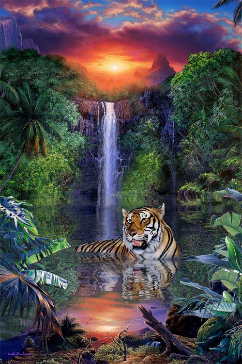 Tiger Falls Jigsaw By Christian Riese Lassen Caa81366