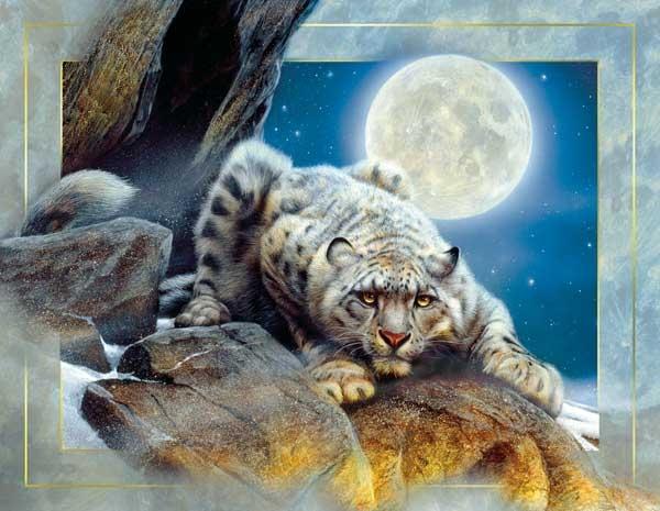 Edge Of Night Snow Leopard Jigsaw By Sunsout Sun55772