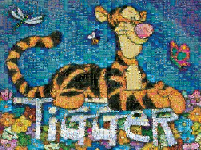 Tigger Too Photomosaic Jigsaw By Disney Blu00794 1000