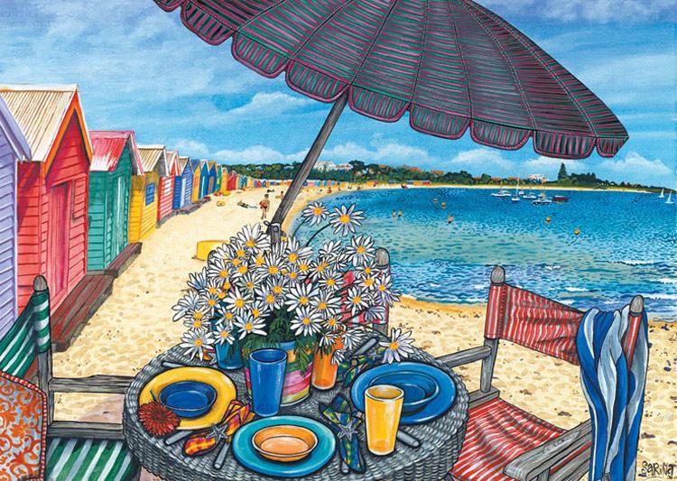 Brighton Beach Melbourne Jigsaw By Sarina Bl01688 1000