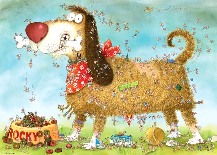 Dog S Life Jigsaw By Marino Degano Hey29491 1000 Pcs