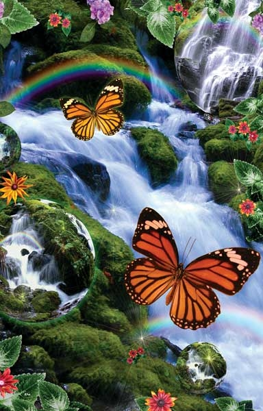 Butterfly Fairyland Falls Jigsaw By Sunsout Sun48456