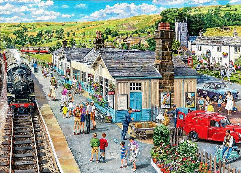 The Village Station Village Life Jigsaw By Trevor