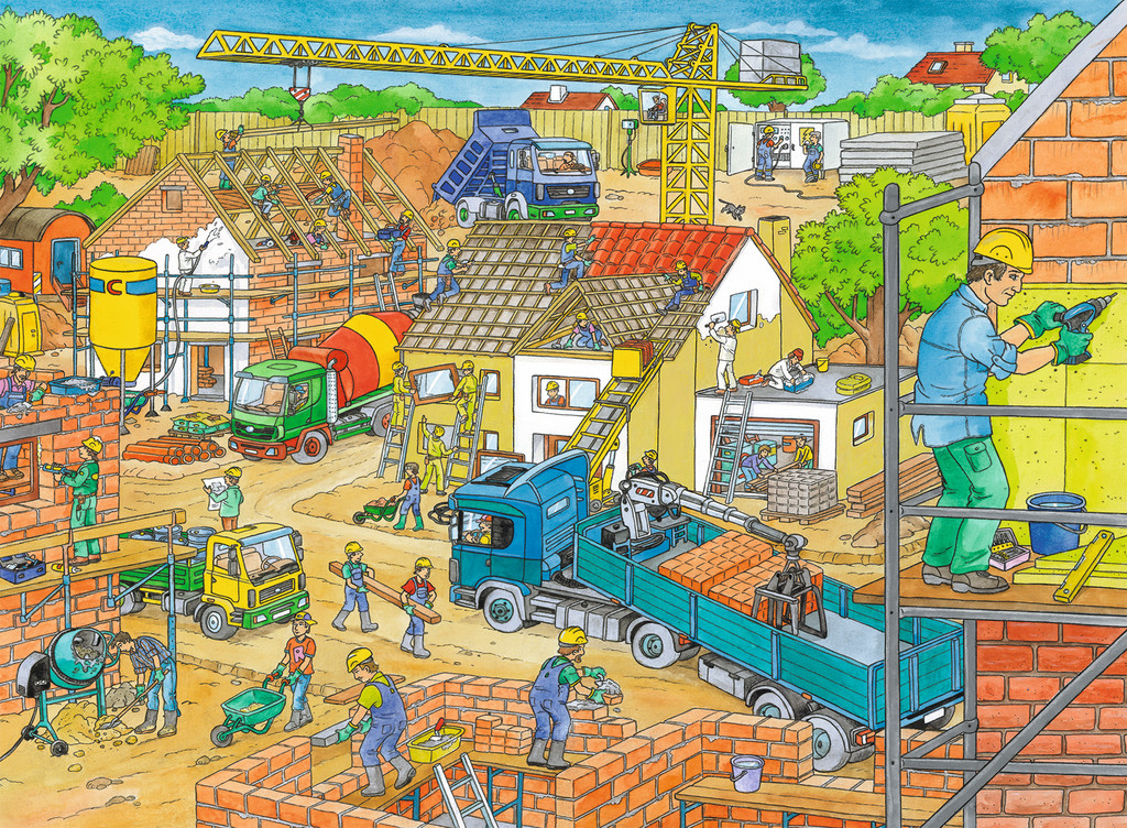 Building A House Jigsaw By Ravensburger Rb10512 0 100