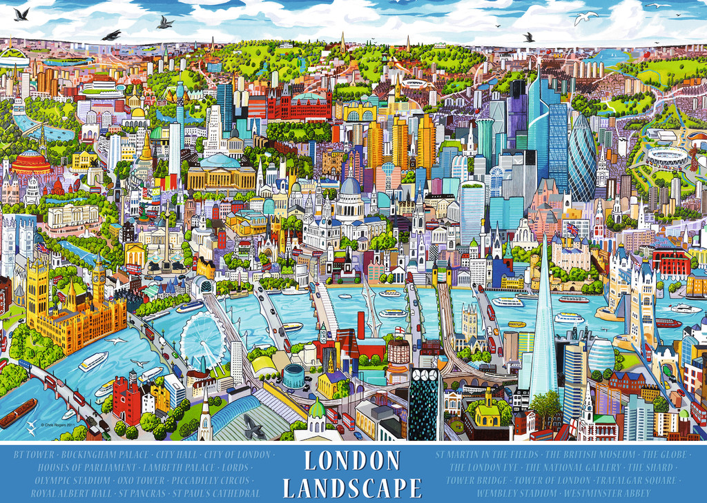 London Landscape Jigsaw By Ravensburger Rb19035 5 1000