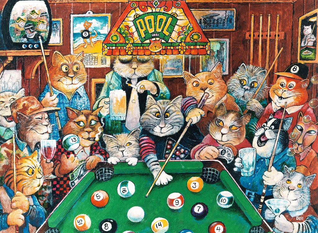 Pool Hall Cats Jigsaw By Ravensburger Rb14308 5 500 Pcs