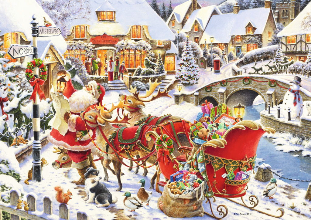 Santa Is On His Way Jigsaw By Roy Trower Rb19337 0 1000