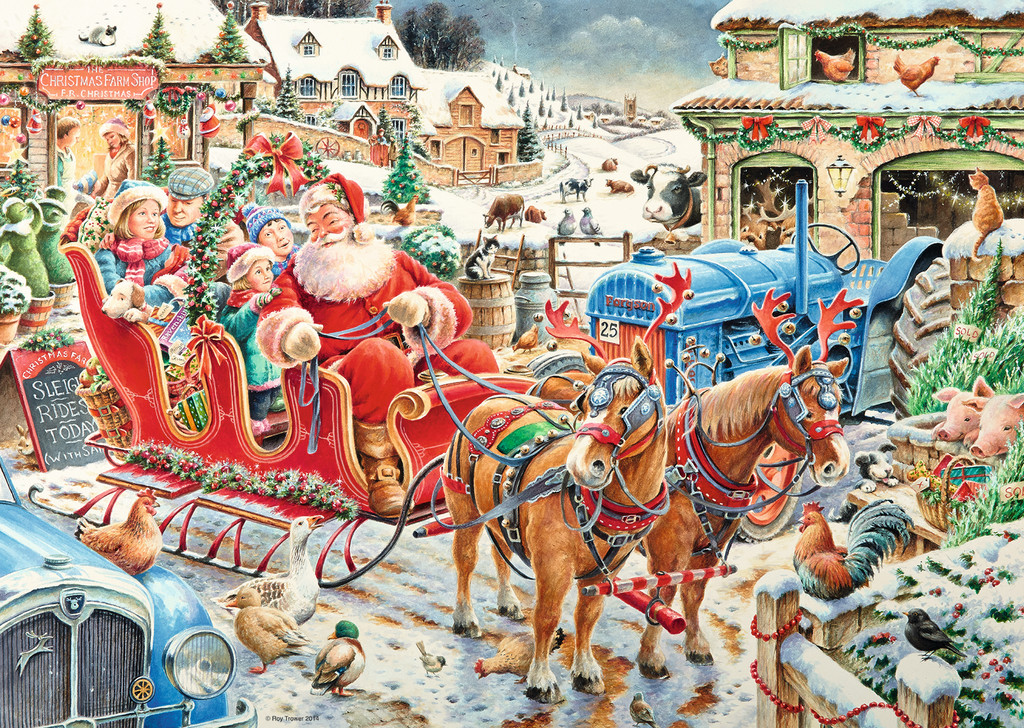 The Christmas Farm Jigsaw By Roy Trower Rb19021 8 1000
