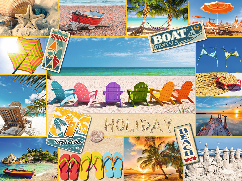 Beach Holiday Collage Jigsaw By Ravensburger Rb16307 6