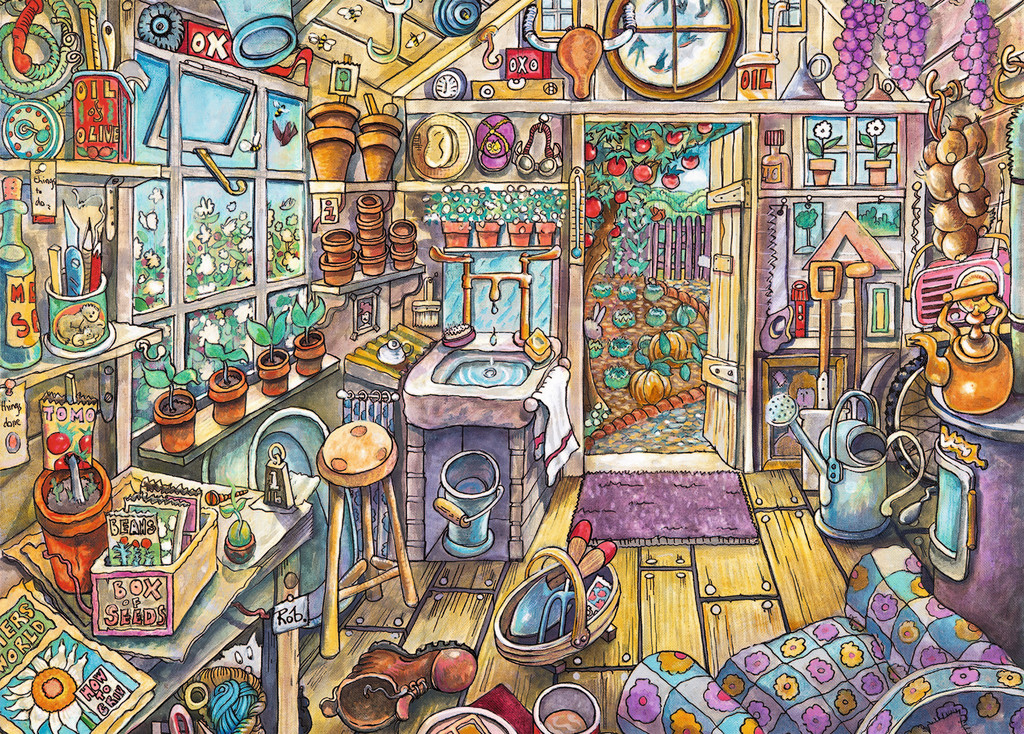 Cozy Potting Shed Large Pieces Jigsaw By Ravensburger