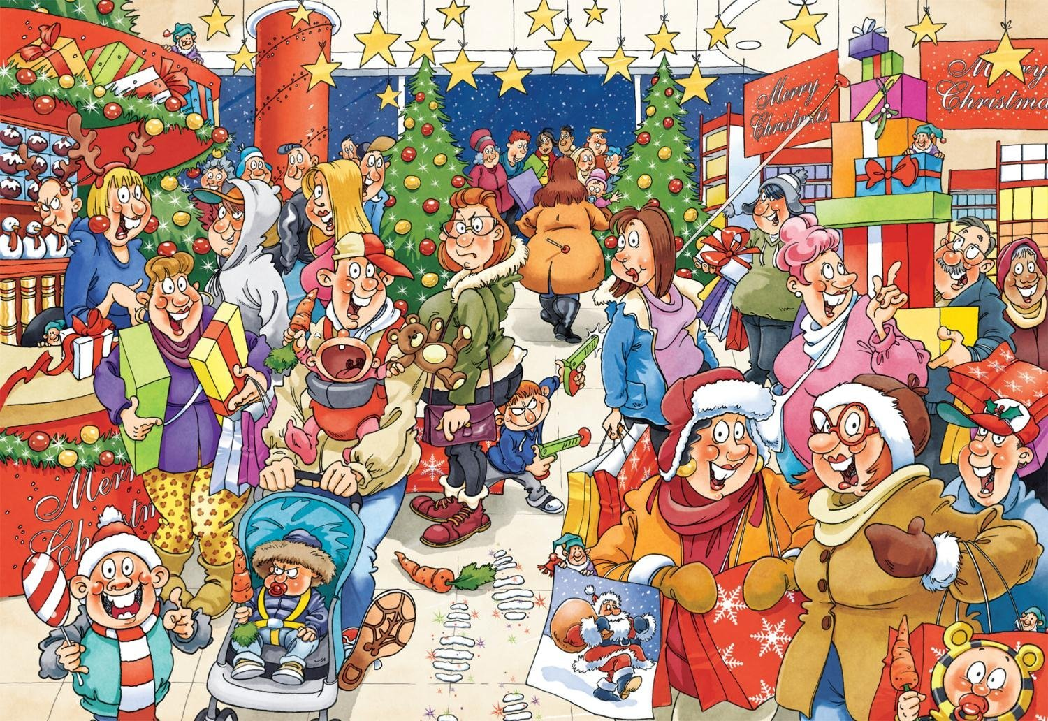 The Mystery Shopper Christmas Wasgij 10 Jigsaw By Neil