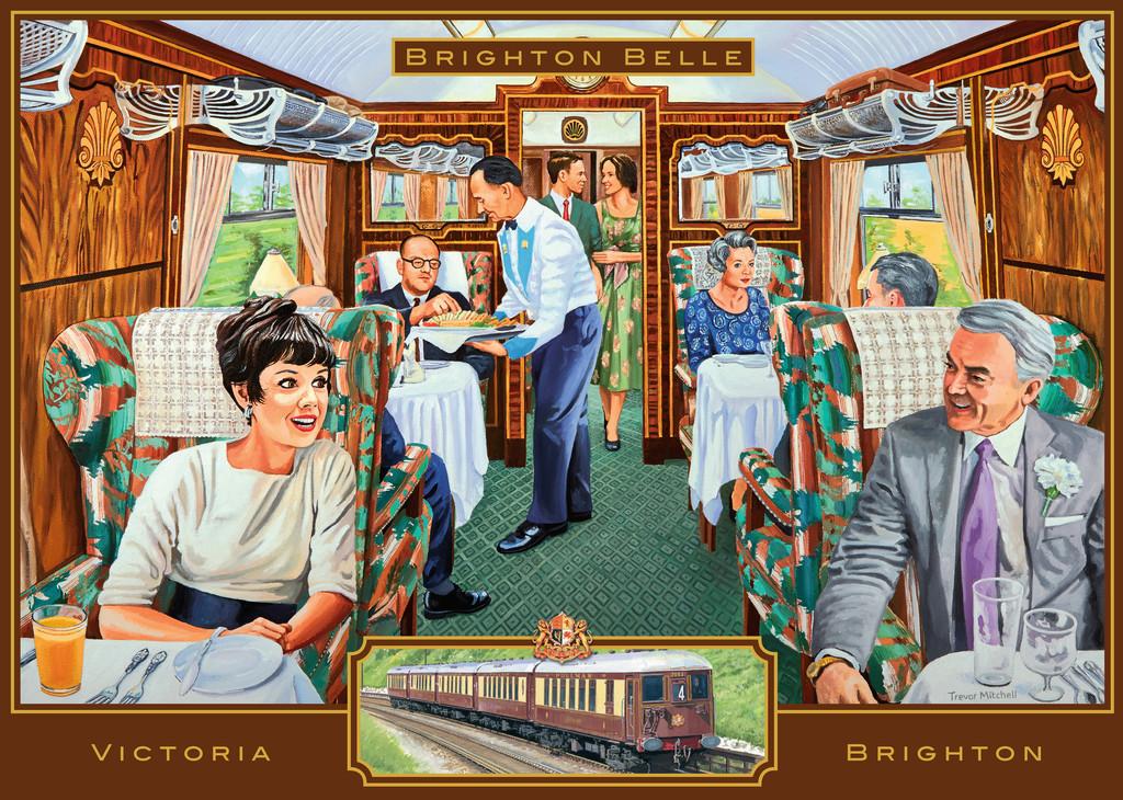 Brighton Belle Jigsaw By Trevor Mitchell Rb19589 3 1000