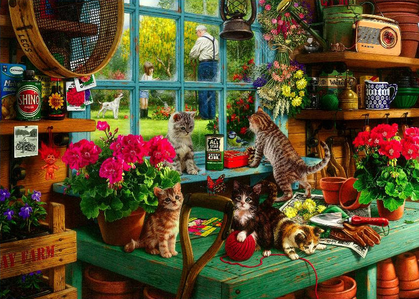 Grandpa's Potting Shed (Large Pieces) Jigsaw By Steve Read